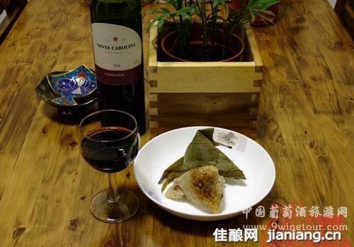 端午节,葡萄酒,粽子