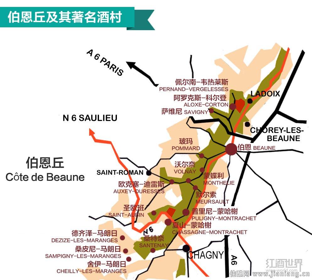法国勃艮第3大重要葡萄酒产区