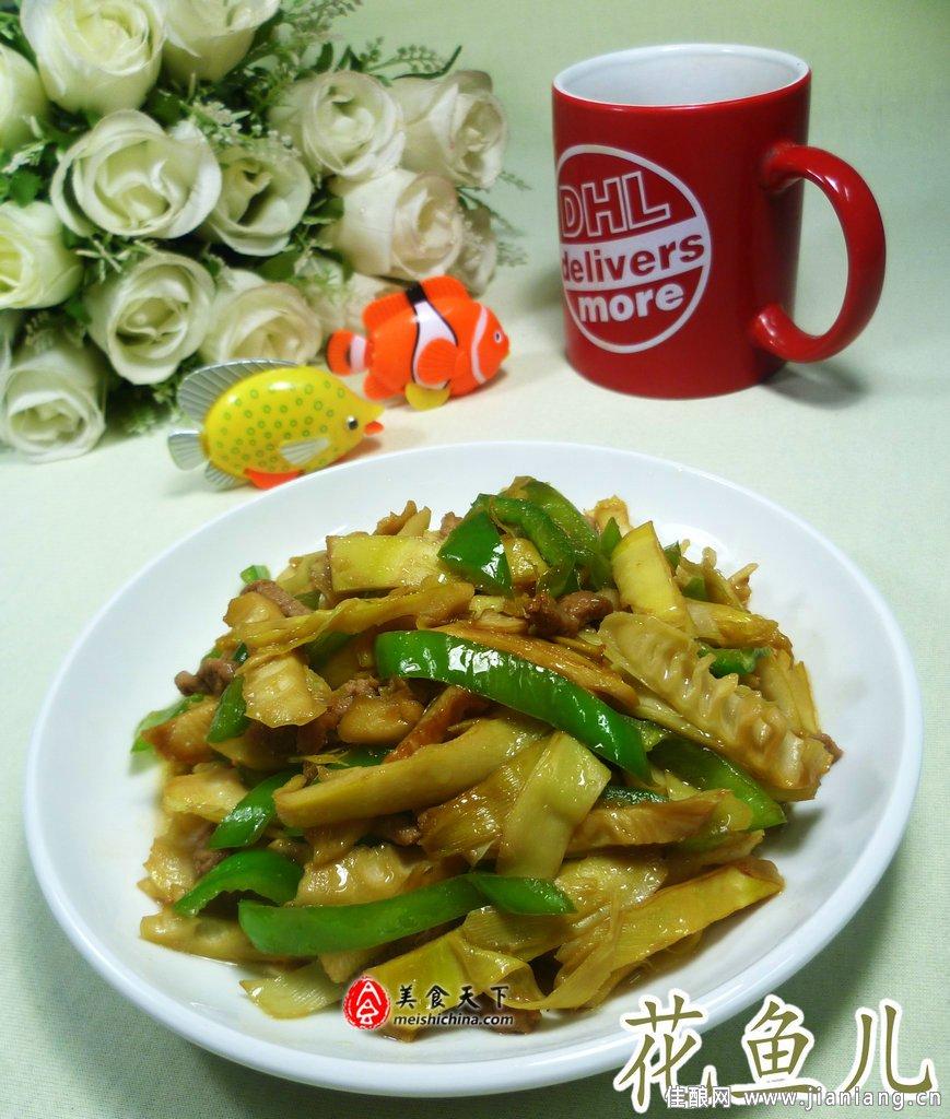 青椒竹笋炒肉丝