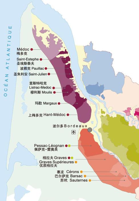 受洋流影响的葡萄酒产区