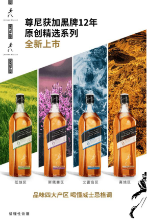 品味苏格兰四大产区 尊尼获加黑牌12年原创精选系列全新上市-威士忌,尊尼获加-佳酿网